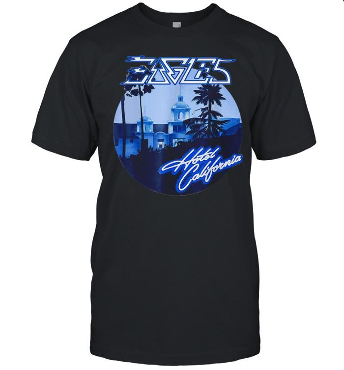 Retro EAGELS Art Hotels Californias Band Music shirt Classic Men's T-shirt
