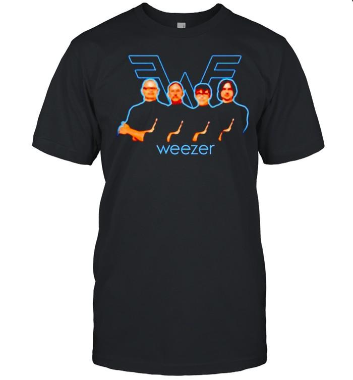 Weezer Releases Hella Mega tour you think I care shirt