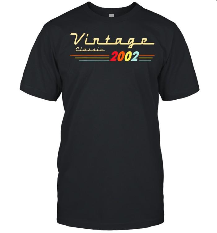 Vintage Classic 2002 19 Years Old Birthday 19th Birthday Shirt