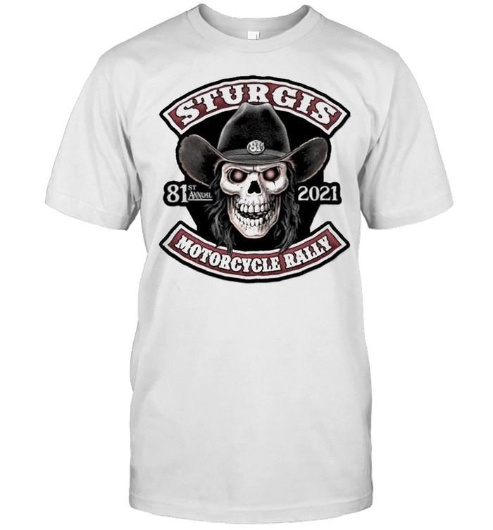 Skull sturgis 81st annual 2021 motorcycle rally shirt Classic Men's T-shirt