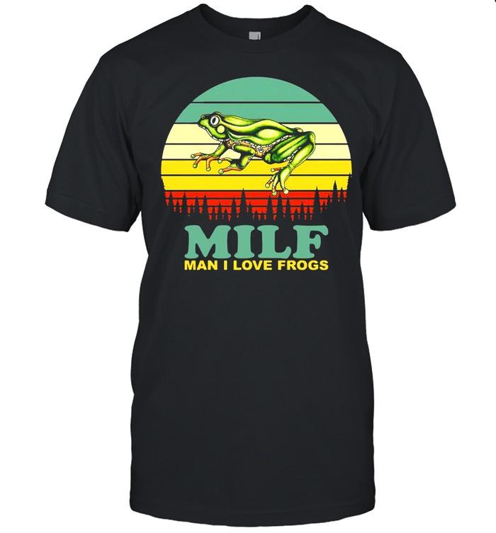 Milf Man I Love Frogs Vintage Retro T-shirt