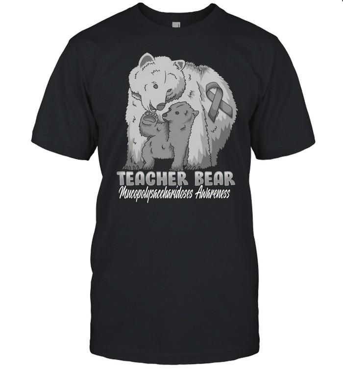 Mucopolysaccharidoses Child Awareness Teacher Bear Support R shirt Classic Men's T-shirt