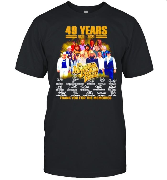 49 years 1972-2021 The Marshall Tucker Band signatures shirt