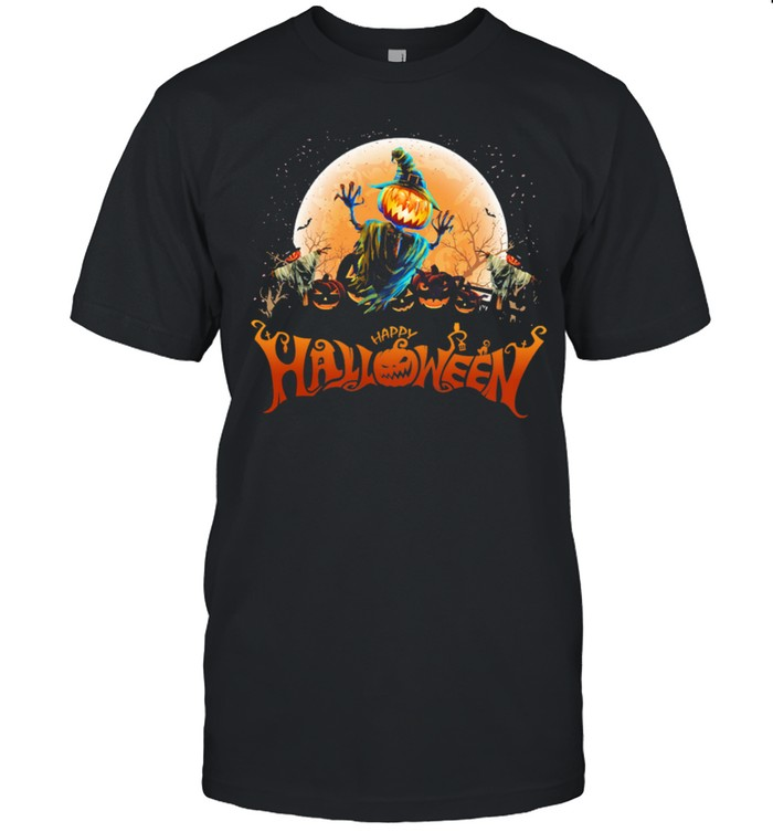 Witch Pumpkin happy Halloween shirt Classic Men's T-shirt