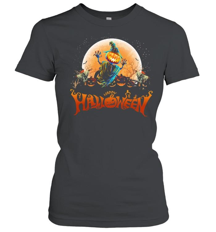 Witch Pumpkin happy Halloween shirt Classic Women's T-shirt