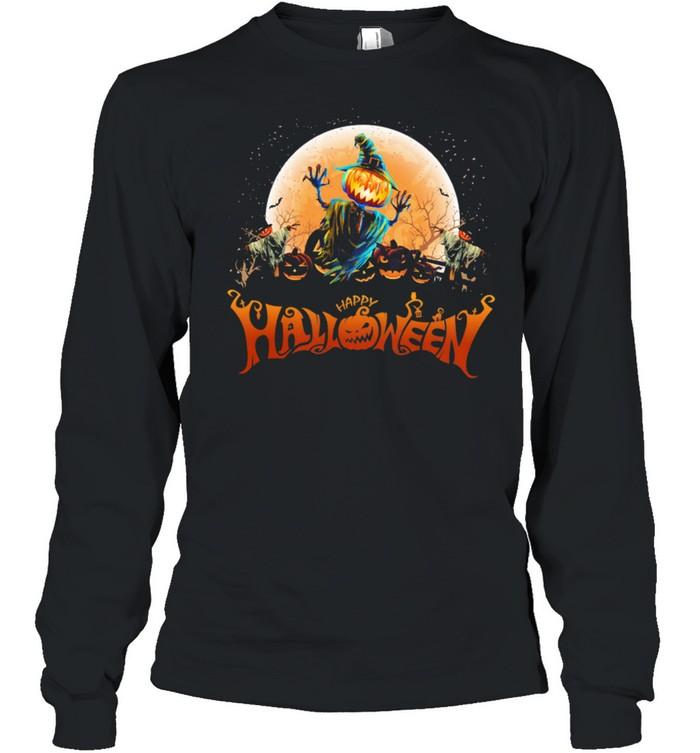 Witch Pumpkin happy Halloween shirt Long Sleeved T-shirt