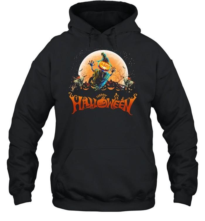 Witch Pumpkin happy Halloween shirt Unisex Hoodie