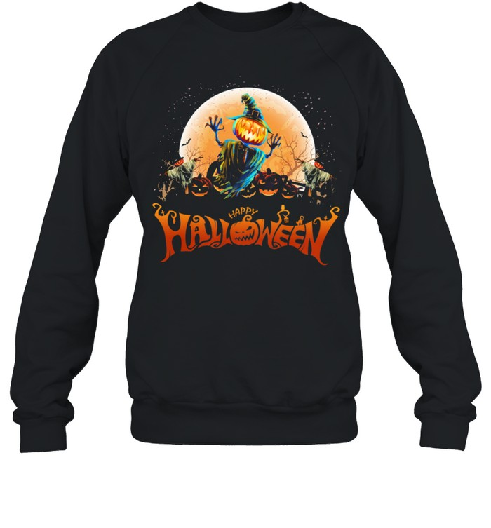 Witch Pumpkin happy Halloween shirt Unisex Sweatshirt