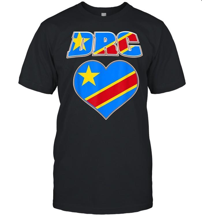 Democratic Republic Of Congo Pride Congolese Flag Love DRC shirt