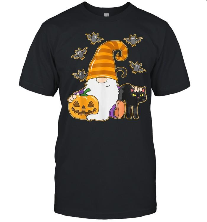 Halloween Costume Gnome Cat Spooky Season shirt