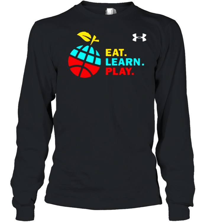 Stephen Curry eat learn play shirt Long Sleeved T-shirt