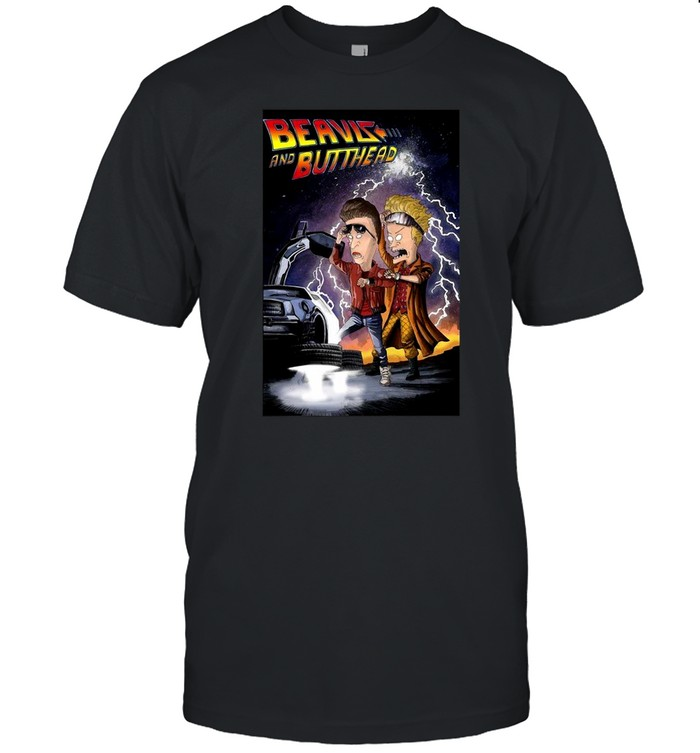 Beavis and Butt Head Back To The Future T-shirt
