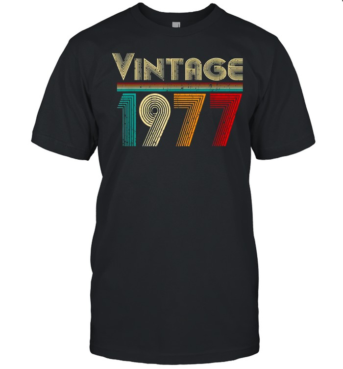 Vintage 1977 Retro 44 Years Old and 44th Birthday shirt