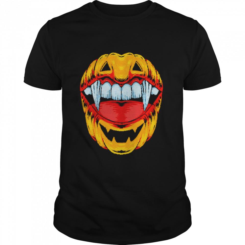 Halloween Vampire Teeth Pumpkin shirt