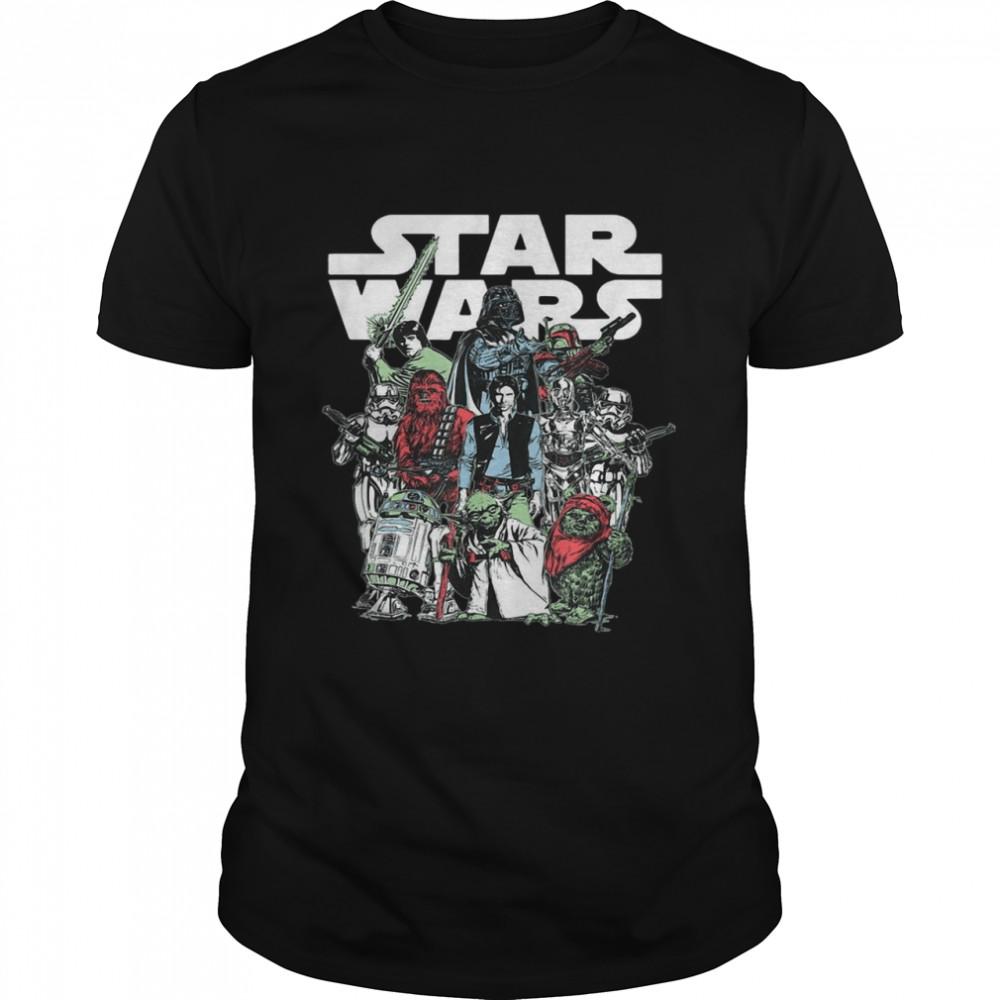 Star Wars Vintage Original Trilogy Group T-shirt