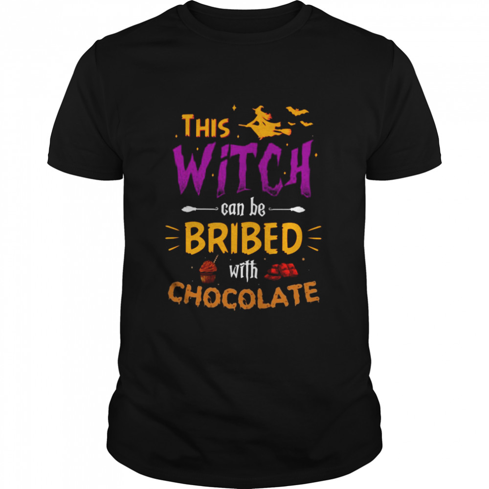 This Witch Can Be Bribed With Chocolate Halloween T-shirt