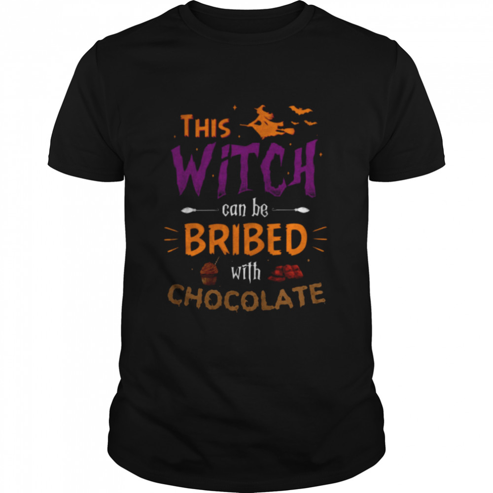 This witch can be bribed with chocolate shirt Classic Men's T-shirt