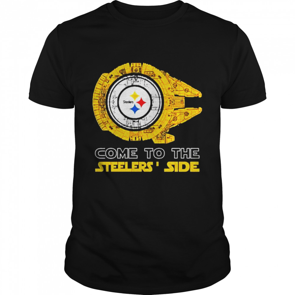 Come to the Pittsburgh Steelers' Side Star Wars Millennium Falcon shirt
