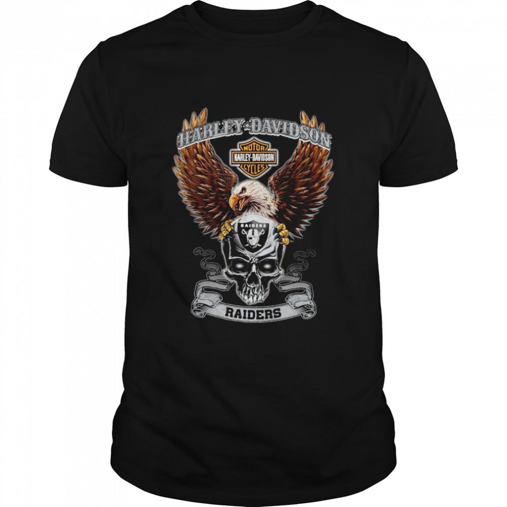 Eagle Skull Harley-Davidson Oakland Raiders shirt