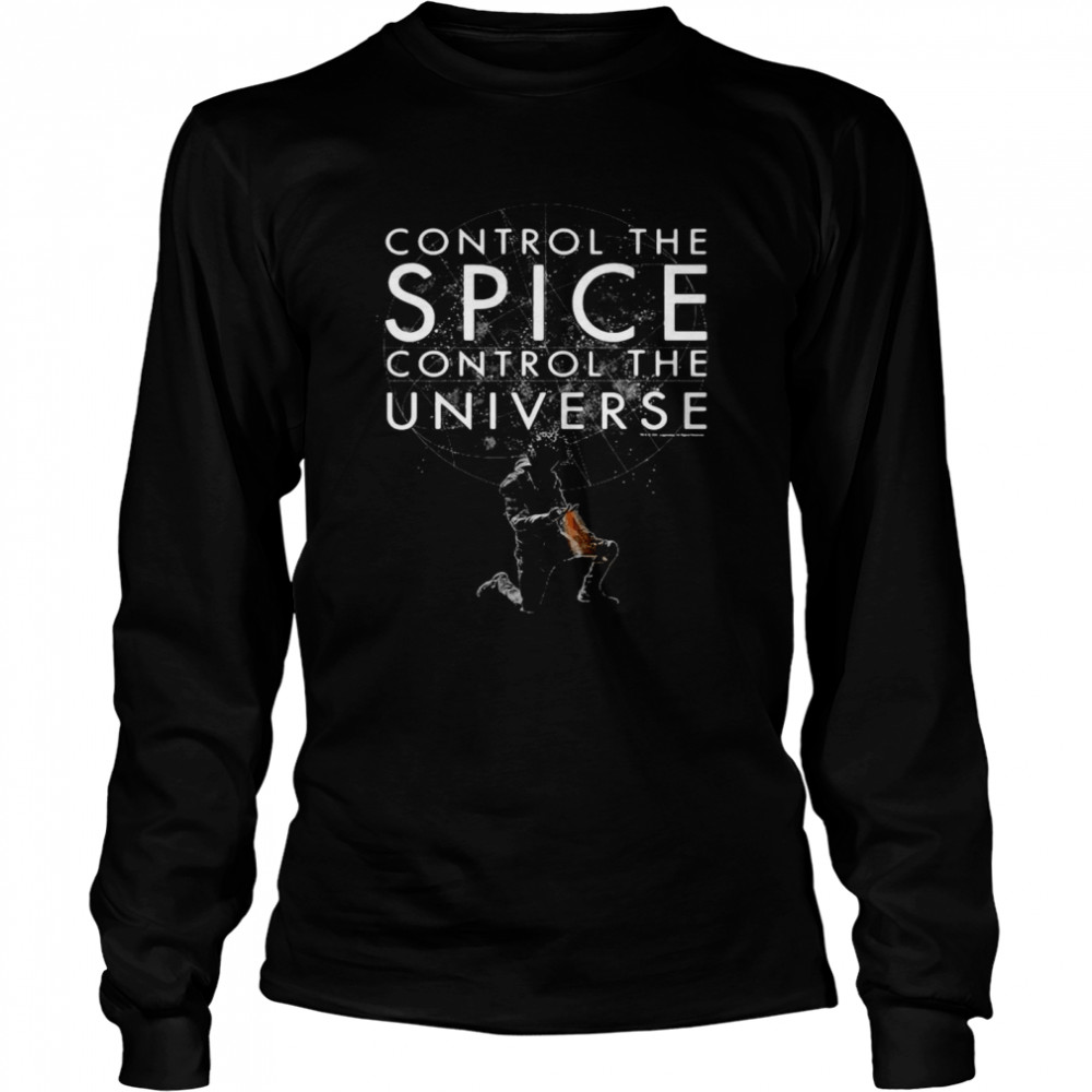 Control The Spice Control The Universe Black T-shirt Long Sleeved T-shirt