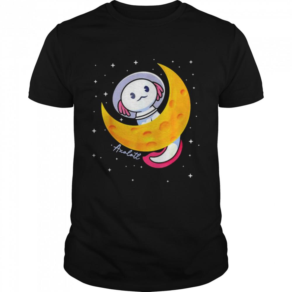 Kawaii Axolotl Japan pastel goth space moon shirt Classic Men's T-shirt