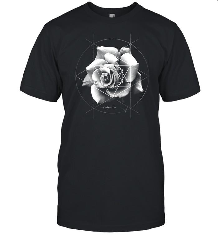 Merkaba Rose Sacred Geometric Overlay shirt
