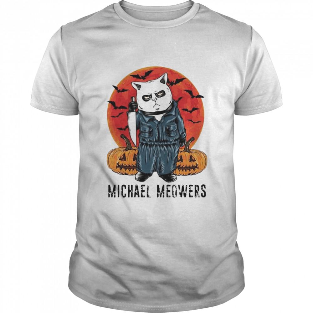 Cat Michael Meowers Halloween T-shirt