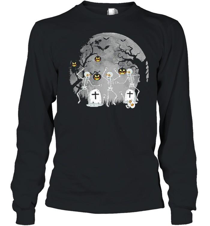 Dancing Skeleton – Happy Halloween shirt Long Sleeved T-shirt