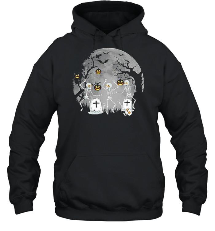 Dancing Skeleton – Happy Halloween shirt Unisex Hoodie