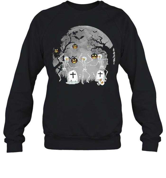 Dancing Skeleton – Happy Halloween shirt Unisex Sweatshirt