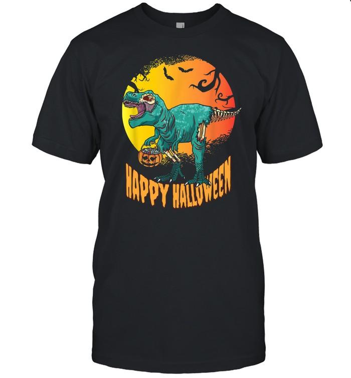 Happy Halloween Dinosaur T Rex Mummy Pumpkin Shirt