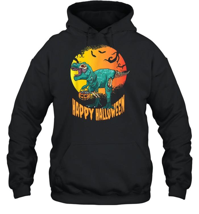 Happy Halloween Dinosaur T Rex Mummy Pumpkin  Unisex Hoodie