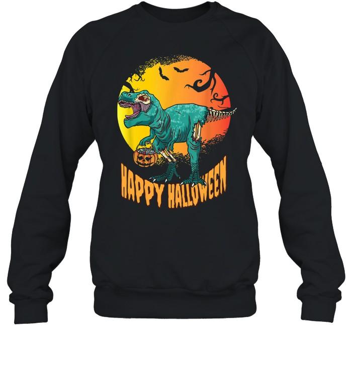 Happy Halloween Dinosaur T Rex Mummy Pumpkin  Unisex Sweatshirt
