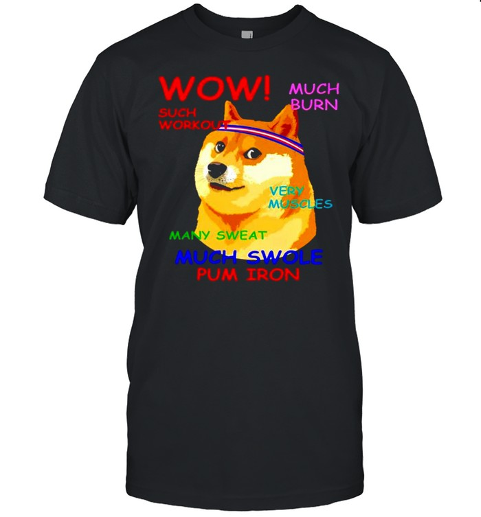 Doge wow much burn such workout very muscles many sweat shirt