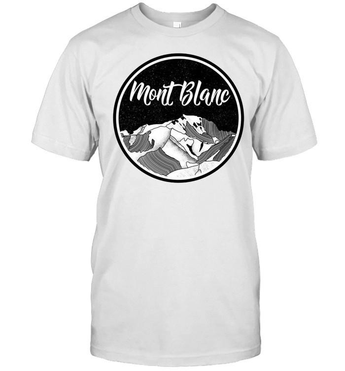 Mont Blanc Schwarz und Weiß Langarmshirt shirt