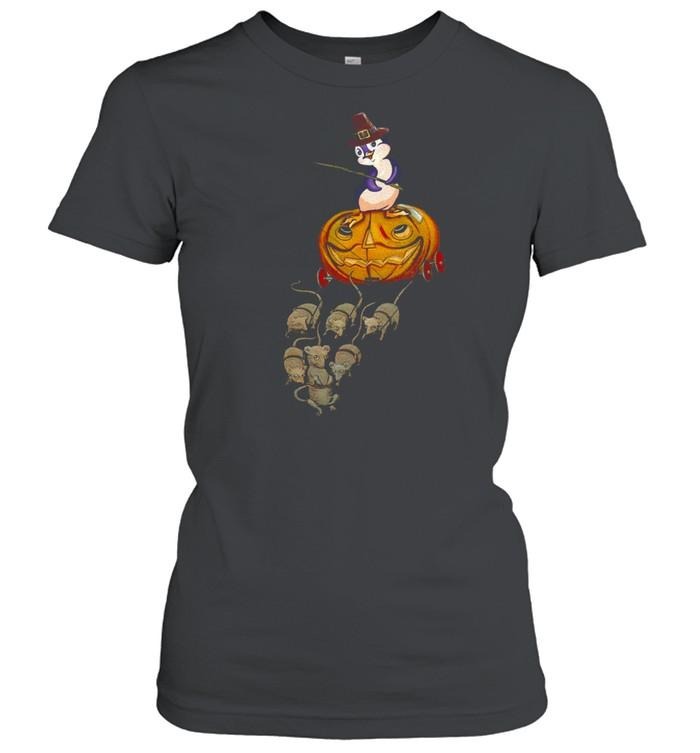 Penguin Funny Pumkin Cart shirt Classic Women's T-shirt
