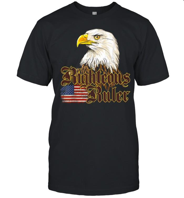 Bald Eagle USA Flag shirt