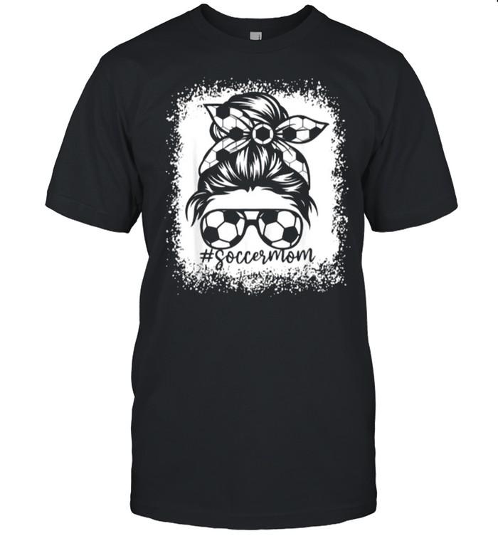 Mom Messy Bun Soccer T-Shirt
