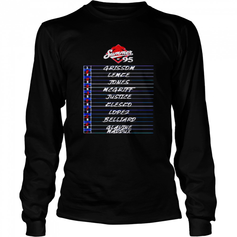 Atlanta Summer of 95 Grissom Lemke Jones and Glavine Maddux shirt Long Sleeved T-shirt