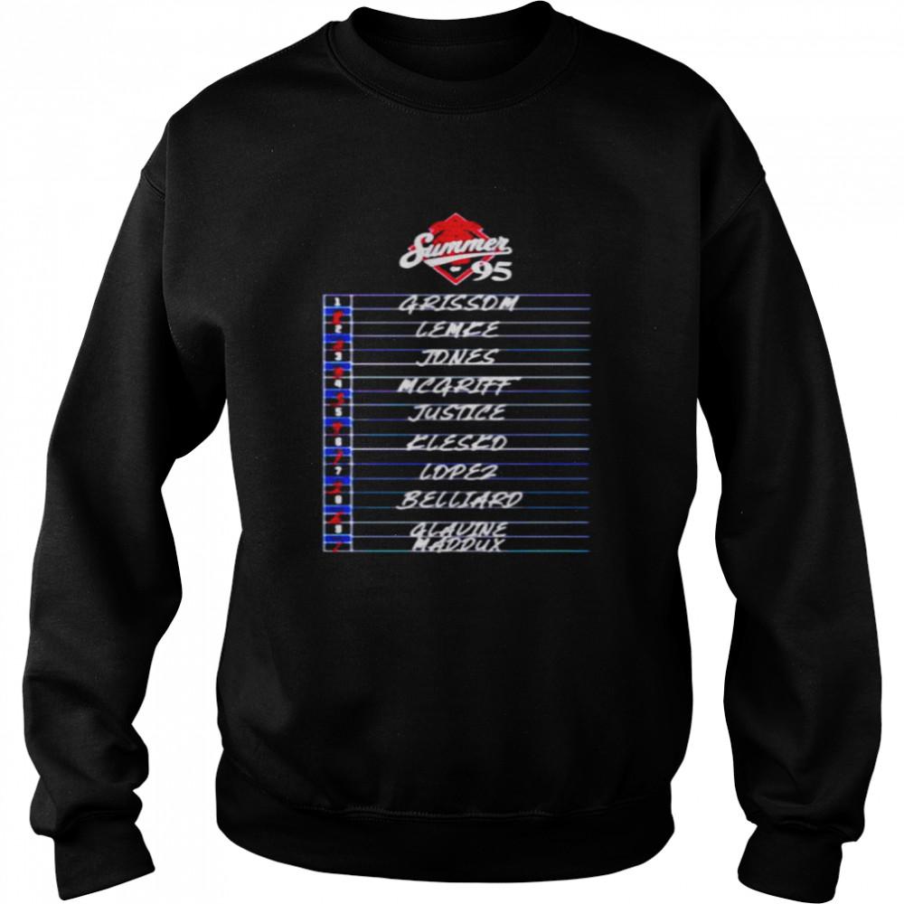 Atlanta Summer of 95 Grissom Lemke Jones and Glavine Maddux shirt Unisex Sweatshirt