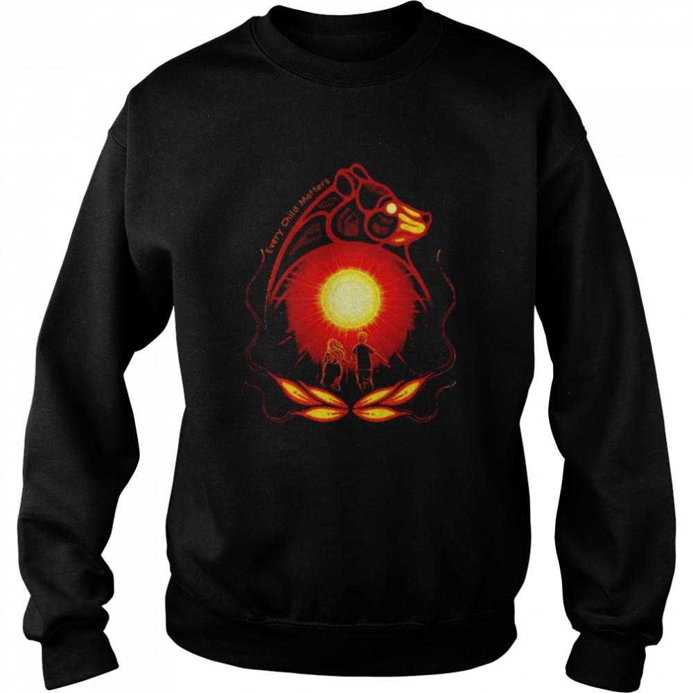 Bear native American every child matters shirt Unisex Sweatshirt