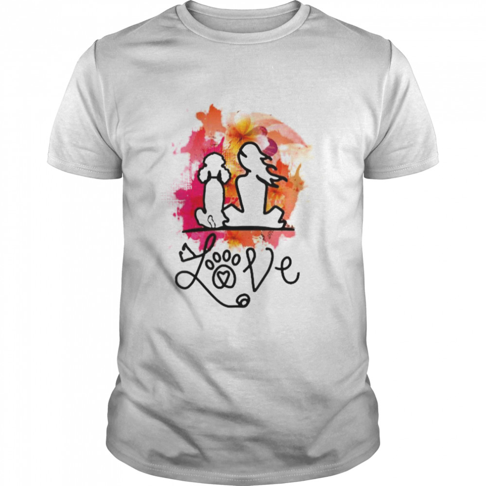 Poodle mom and poodle lovers Colorful art T-Shirt