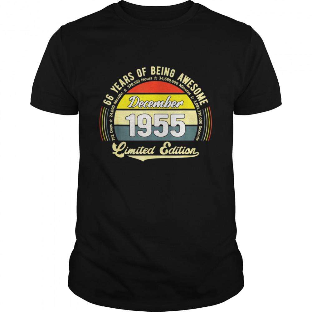 Vintage 66 Jahre alt 792 Monate Limited Edition 66 Geburtstag Shirt