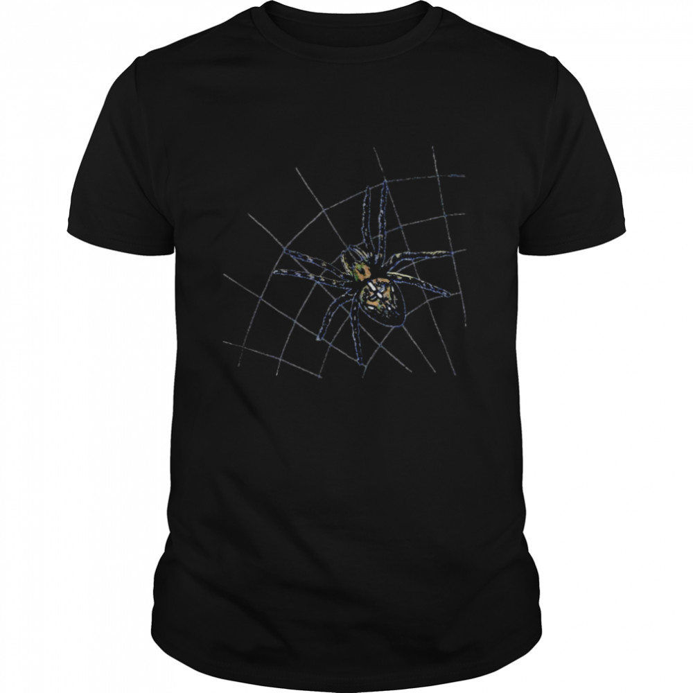 Spooky Spider Waiting in the Web Halloween Costume T-shirt