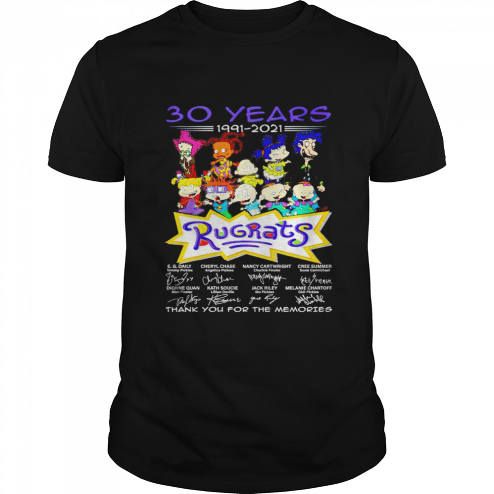30 years 1991 2021 Rugrats signatures thank you for the memories shirt