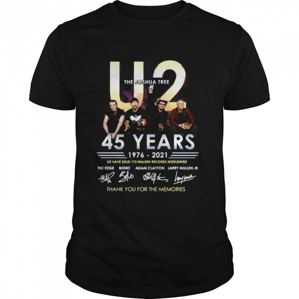 The Joshua Tree U2 45 Years 1976-2021 Signature Thank You For The Memories T-shirt