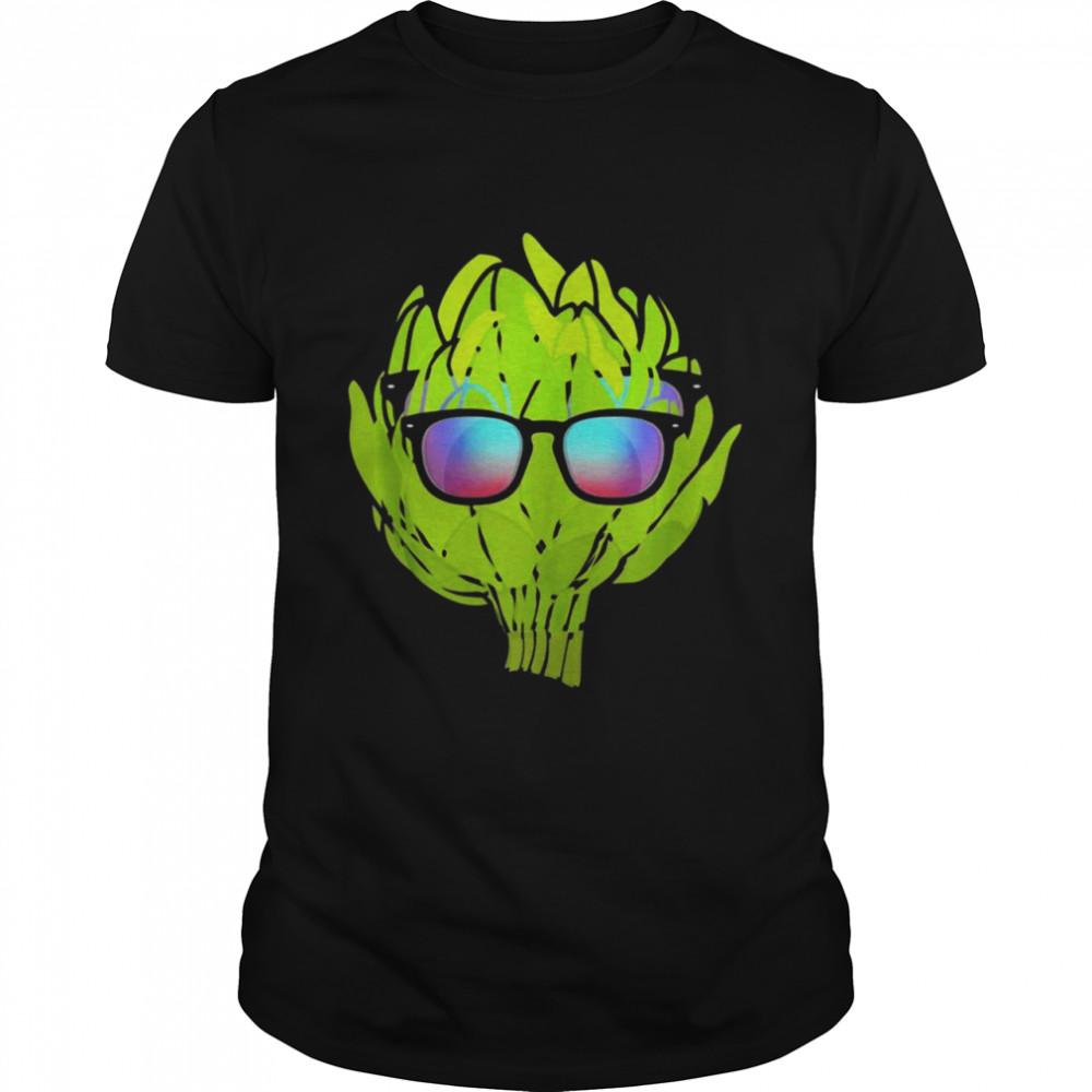 Artichoke With Sunglasses Vegetarian Costume t-shirt