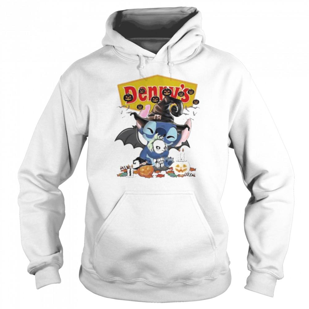 Denny's Stitch hug Joker happy Halloween shirt Unisex Hoodie