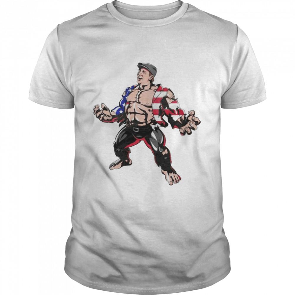 Hulk Marvel superhero American flag shirt Classic Men's T-shirt