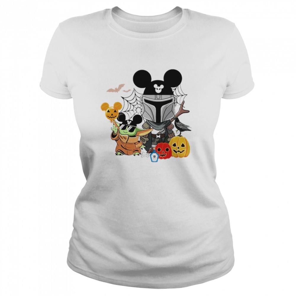 Mickey and Baby Yoda mashup Darth Vader happy Halloween shirt Classic Women's T-shirt